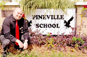 RACHEL DICKERSON/MCDONALD COUNTY PRESS Kevin Benish is the new principal at Pineville Elementary School. He hopes to be a role model for students.