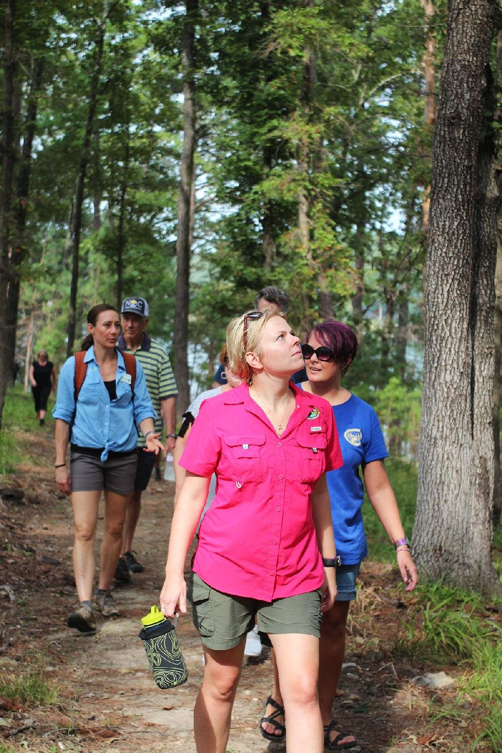 About 100 people attended the opening of the Electric Island Nature Trail and went for a 75-minute hike.