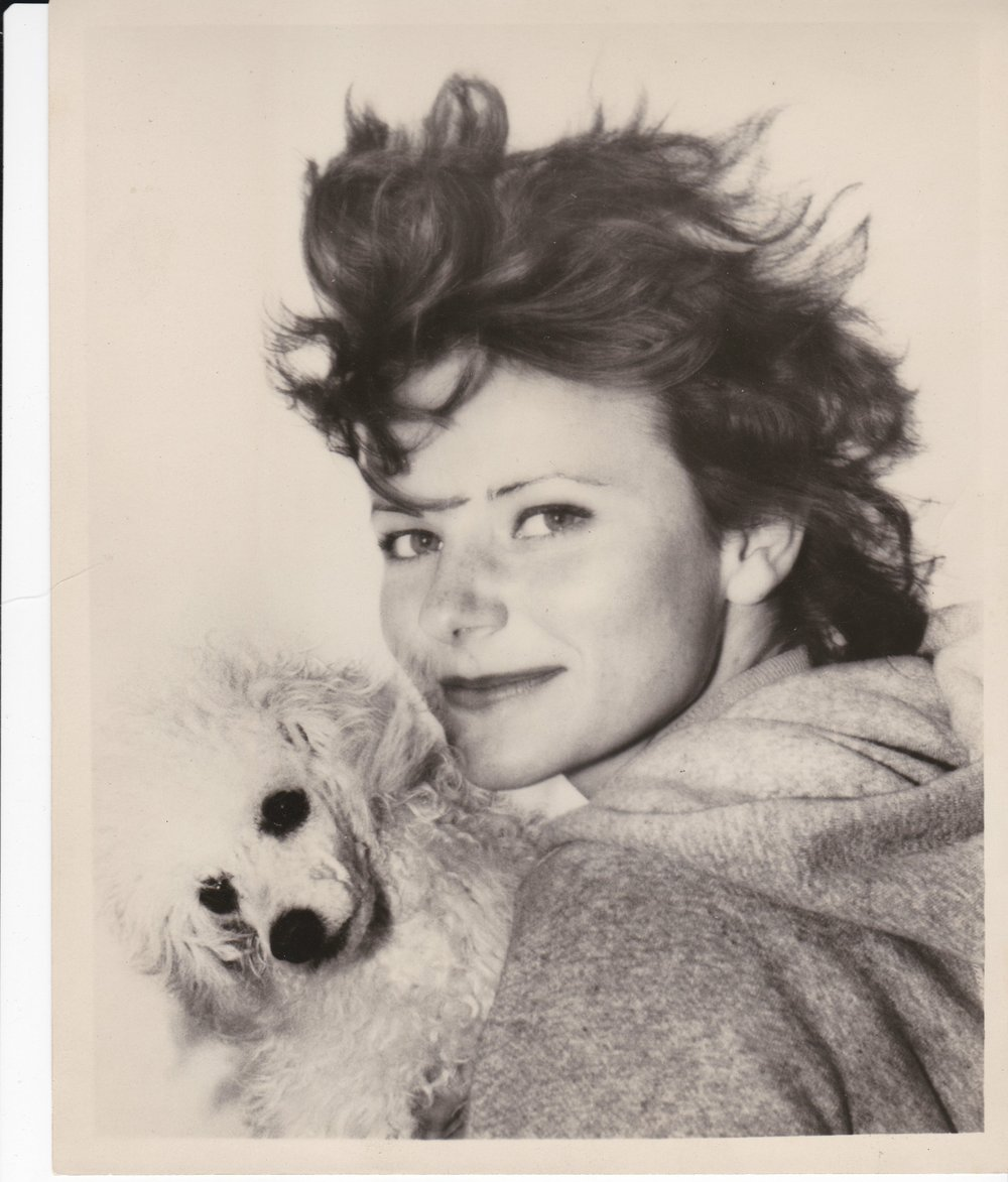 Ann Miles exchanged this picture with singer Ricky Nelson when they became friends in the 1960s. She holds her dog Cheri. Nelson's dressing room was next to the High Diving Horses diving stand where she worked on the Steel Pier at Atlantic City.  (Courtesy Ann Miles)