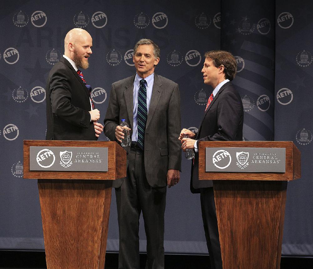 Arkansas' 2nd Congressional District candidates Tucker, Hill exchange debate jabs