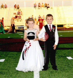 Photo courtesy of LifeTouch National Studios/Lincoln 2018 Homecoming attendants Kyleigh Reaves (left), daughter of Jared and Haily Reaves; and Sylas Pershall, son of Casey and Regina Pershall. They are both kindergartners this year at Lincoln Elementary.