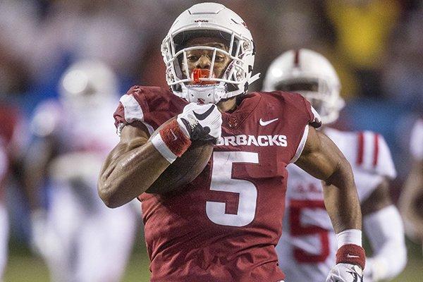 Arkansas running back ...