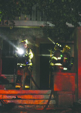 Fire Engulfs Vacant House