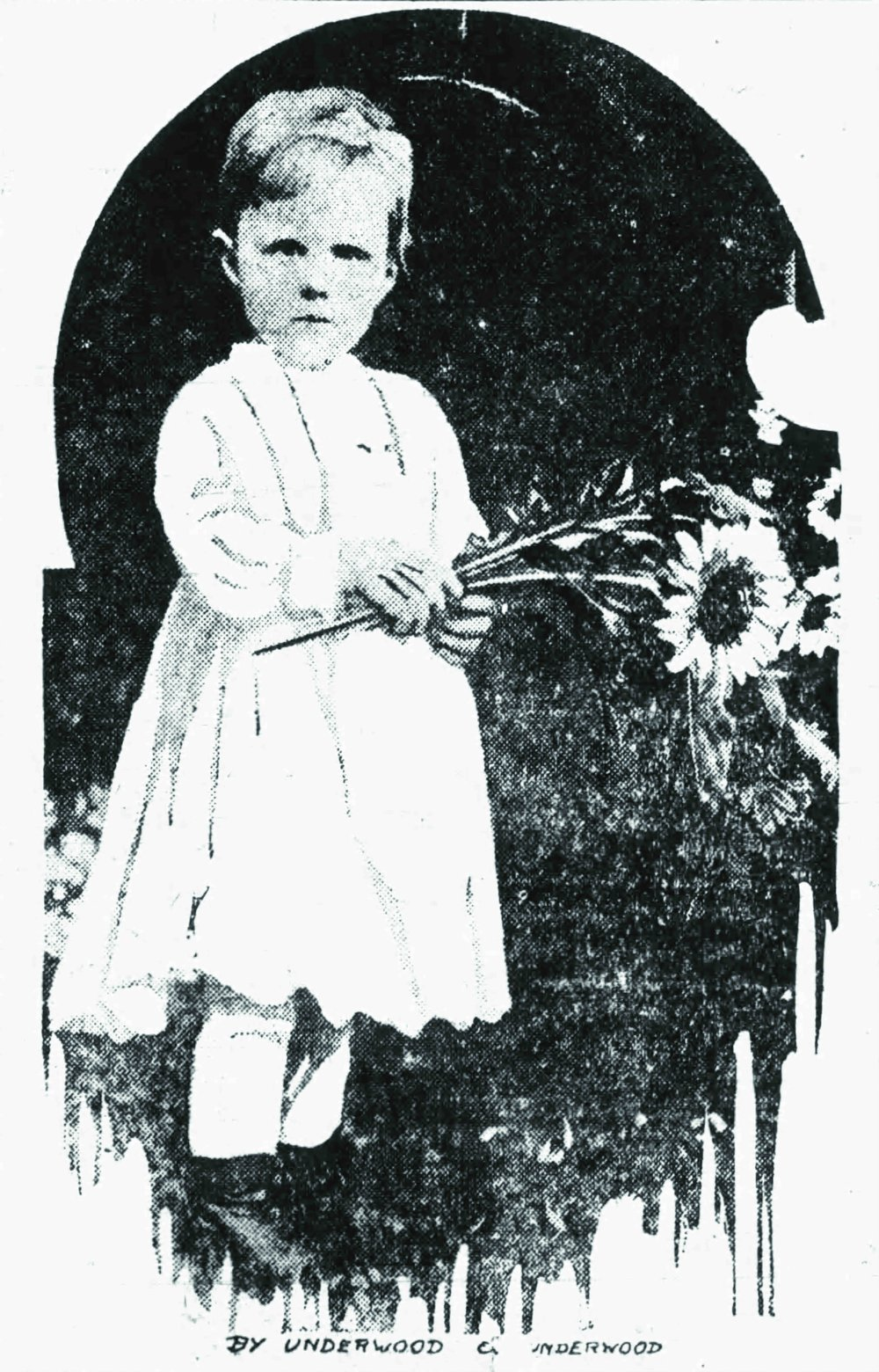 The queen of The Netherlands took this photo of Princess Juliana, 2 years, 8 months, in the palace garden; it appeared in the Arkansas Democrat on Jan. 11, 1912.