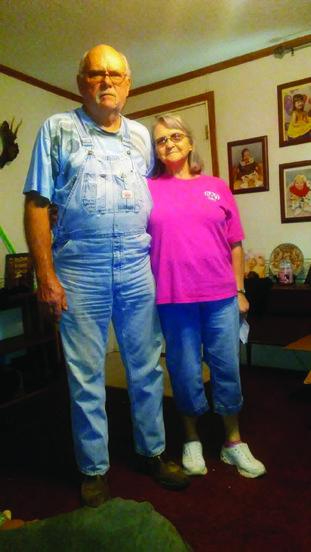Kathleen Miles and her husband Eugene at their home in Crossett.
