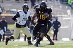 Missouri running back Damarea Crockett runs with the ball during the first half of an NCAA college football game against Vanderbilt Saturday, Nov. 10, 2018, in Columbia, Mo. (AP Photo/Jeff Roberson)