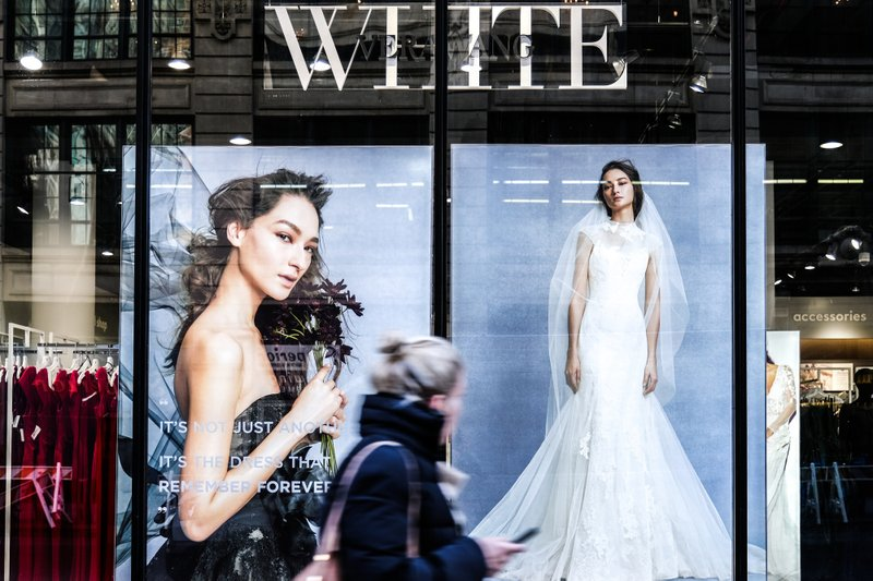 d82cc978cc08 A pedestrian passes in front of a David's Bridal store in New York on Nov.  14, 2018. MUST CREDIT: Bloomberg photo by Jeenah Moon.