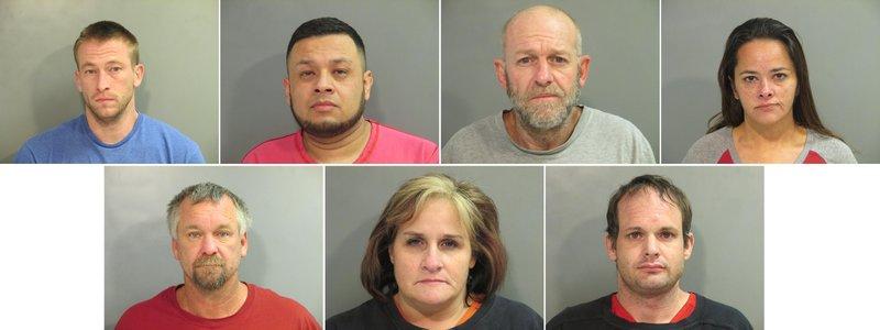 Police arrest seven on drug charges