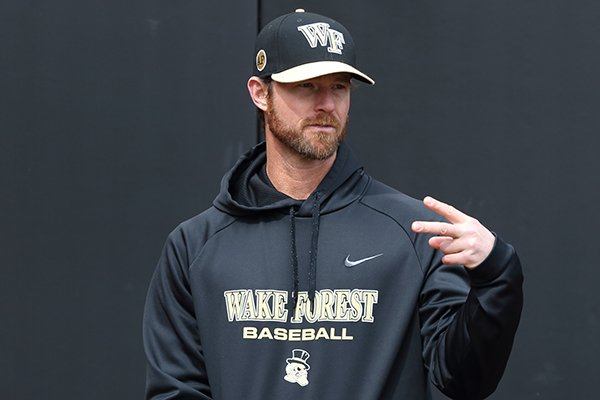 Matt Hobbs was pitching coach at Wake Forest from 2015-18 and has been hired as the Arkansas pitching coach for the 2019 season.