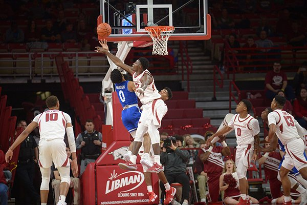 Arkansas University of Texas at Arlington Friday, Nov. 23, 2018, play in Bud Walton Arena in Fayetteville. Visit nwadg.com/photos to see more photographs from the game.