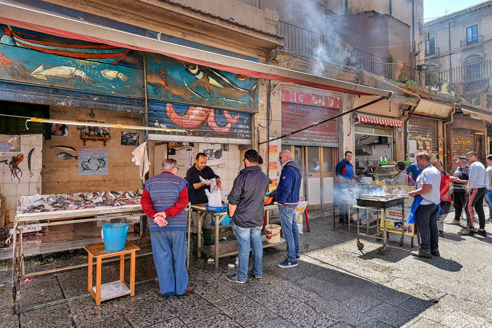 Once the city's beating heart, Palermo's Vucciria is no longer a traditional street market, but it's a great place to sample the city's street food.
