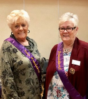 "Submitted photo NEW OFFICERS: Hot Springs Emblem Club No. 194 recently introduced two newly installed officers, Second Vice President Sharyn Cole, left, and President Beverly Goodridge. ""Congratulations to both these ladies and know that you will have a wonderful and very successful year,"" a news release said."