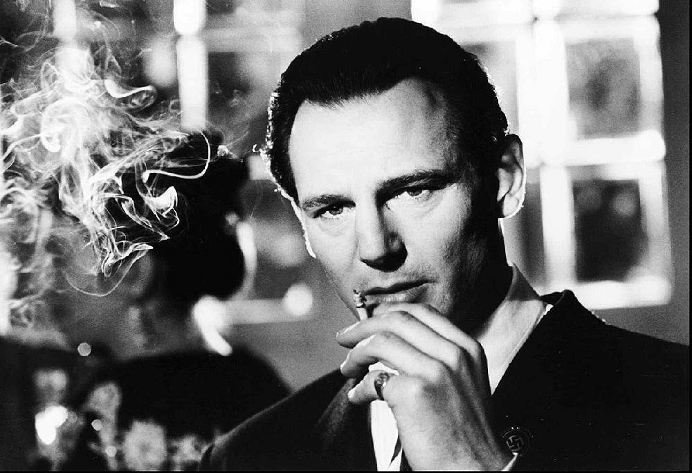 Liam Neeson as the enigmatic factory owner Oskar Schindler.