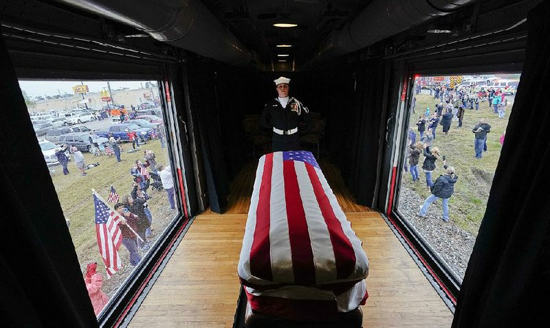 After Funeral In Texas Bush Buried Near Library