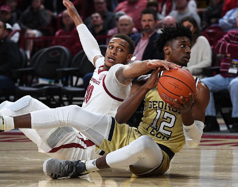 wholehogsports - ua men's basketball - georgia tech at arkansas