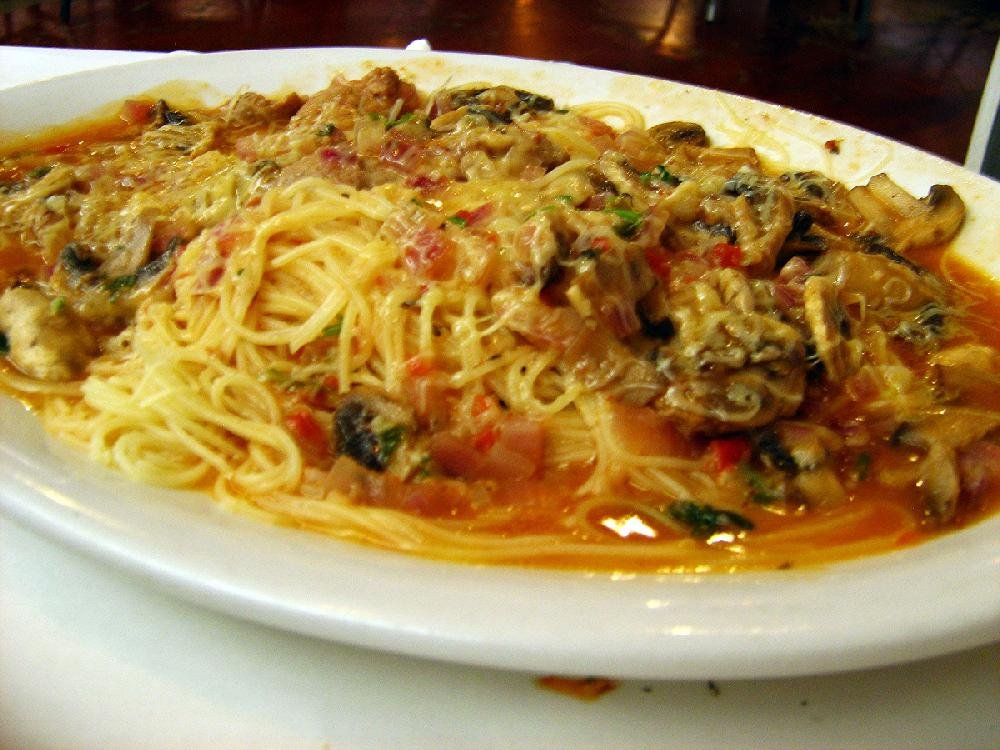 The Veal Marsala at Roma Italian Restaurant in Jacksonville is made with sauteed shallots and mushrooms in a Marsala wine sauce served over spaghettini pasta.