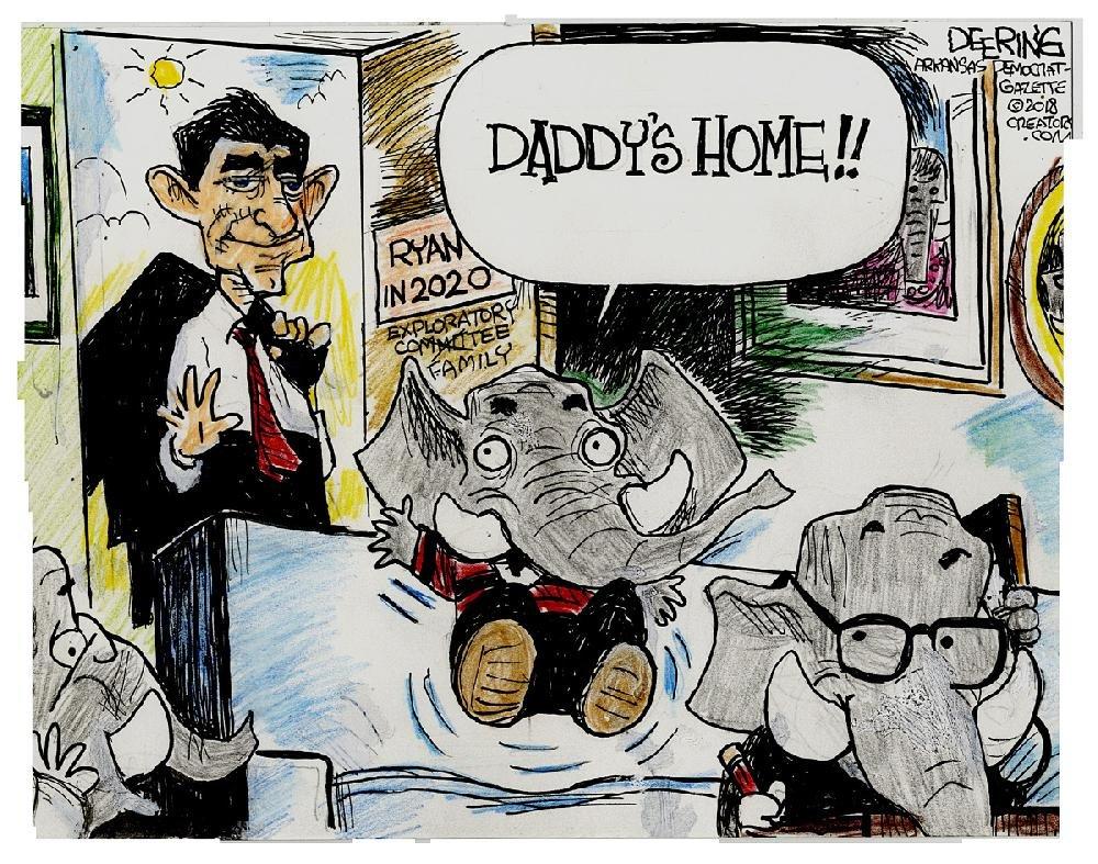 CARTOONS OF THE YEAR: Editorial cartoonist John Deering