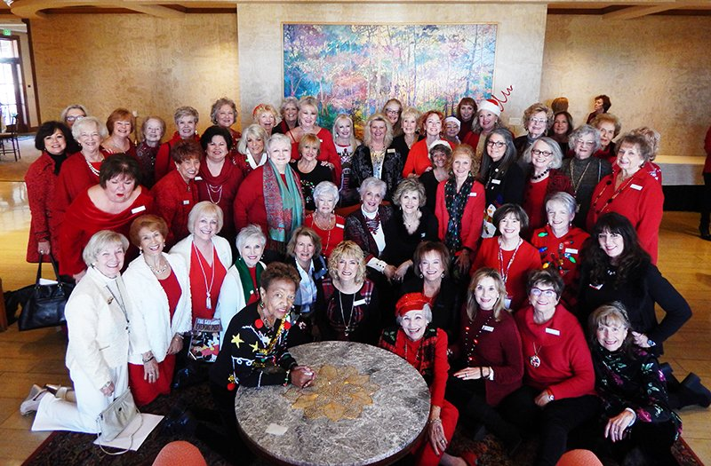 Submitted photo CLUB MEMBERS: Members of the Women's Welcome Club got together for a December group photo.