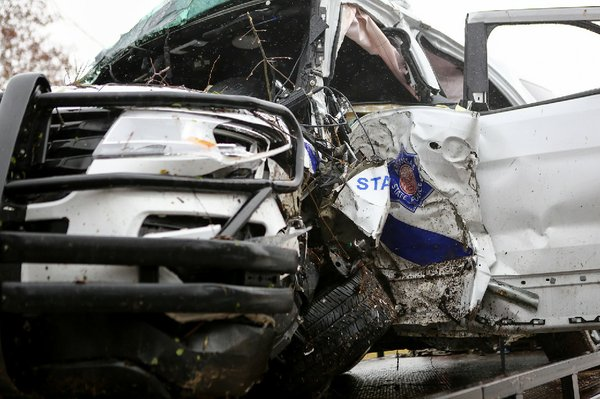 state trooper waldo native injured in patrol unit accident
