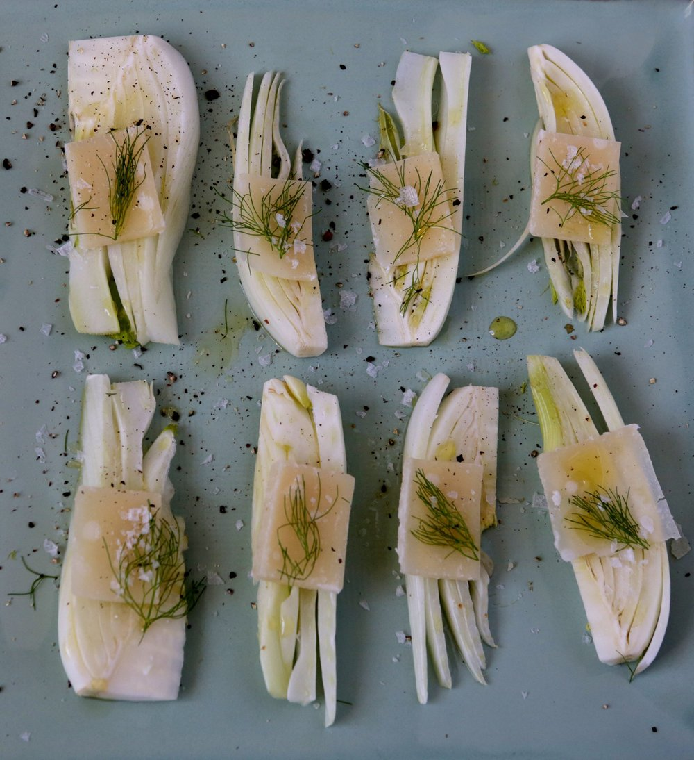 Sliced Fennel With Parmesan