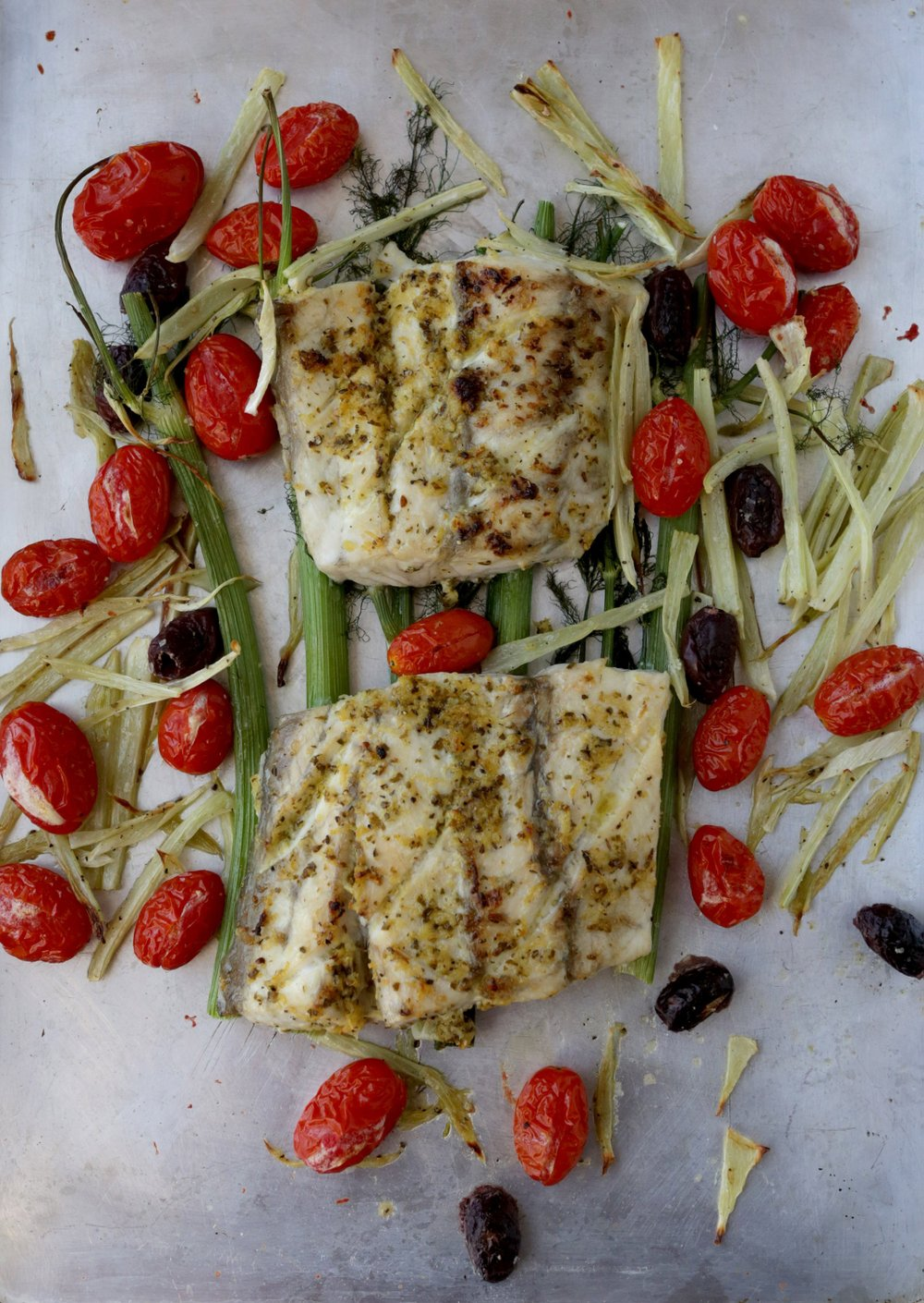 Broiled Fish With Tomatoes and Fennel