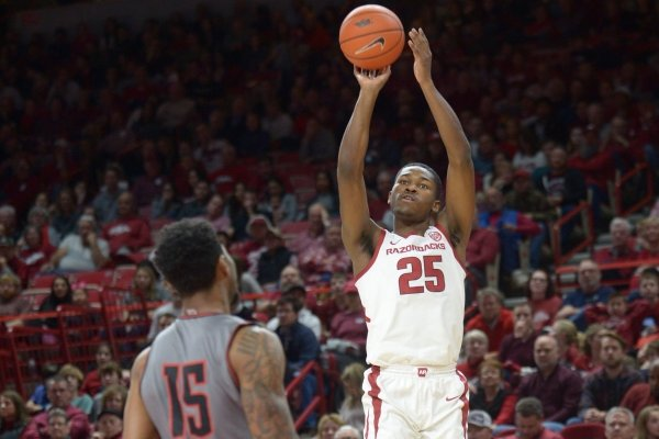 Arkansas Austin Peay Friday, Dec. 28, 2018, during the Razorbacks' 76-65 win in Bud Walton Arena. Visit nwadg.com/photos to see more photographs from the game.