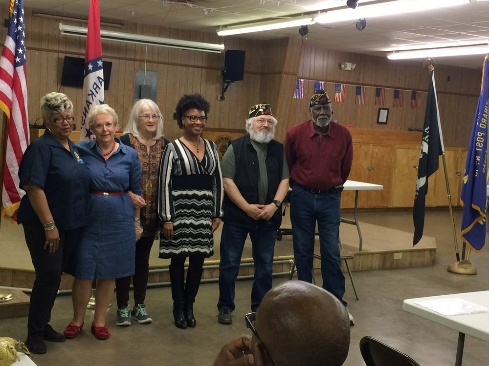 American Legion members stand with Mayor Creer after she spoke to the organization Tuesday night. Pictured from left to right are: Dolores Green, Joyce Jacob, Dorothy Bell, Creer, Edgar Brown and Olice Green. Caitlan Butler/News-Times