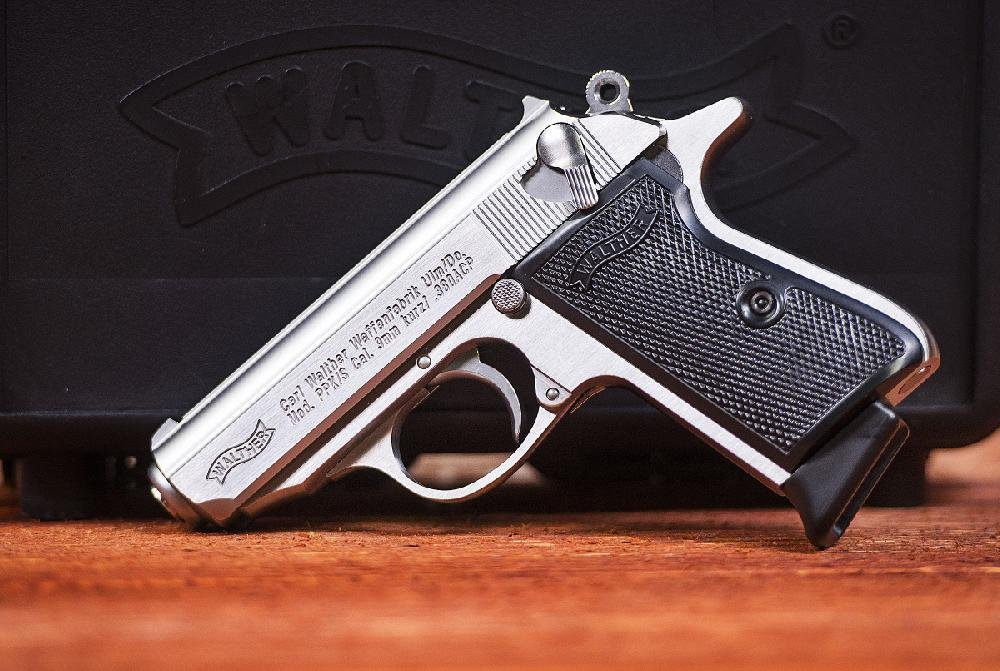 A Walther PPK pistol is displayed at the Fort Smith facility.