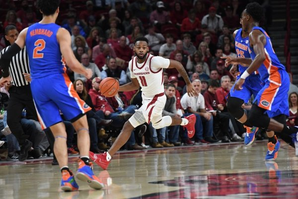 Image from Arkansas' 57-51 loss to Florida Wednesday Jan. 9, 2019 at Bud Walton Arena in Fayetteville.