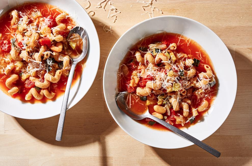 Pasta Fagioli With Zucchini Photo by Stacy Zarin Goldberg (For The Washington Post)