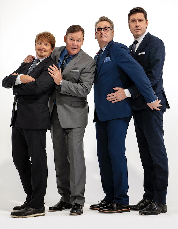 Dave Foley (from left), Joel Murray, Greg Proops and Jeff B. Davis, cast members from TV's Whose Line Is It Anyway?, will be onstage live in Whose Live Anyway?, on Thursday at Fayetteville's Walton Arts Center.