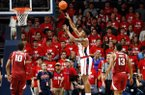 Mississippi forward Bruce Stevens (12) shoots an uncontested shot against Arkansas during the second half of the NCAA college basketball game in Oxford, Miss., Saturday, Jan. 19, 2019. Mississippi won 84-67. (AP Photo/Rogelio V. Solis)