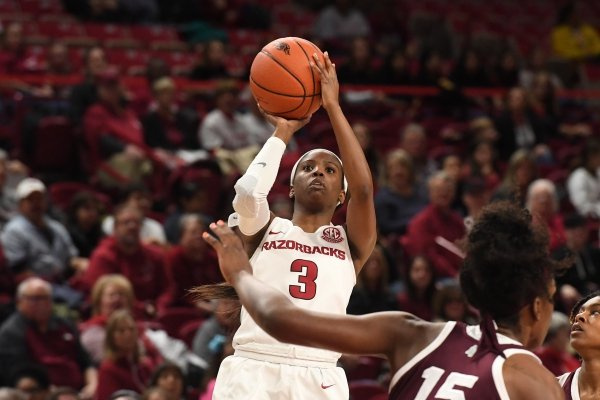 Image from Arkansas' 93-69 loss to Mississippi State Thursday Jan. 3, 2019 at Bud Walton Arena in Fayetteville.