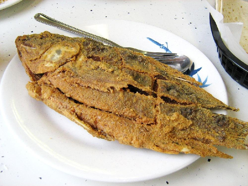 A whole fried tilapia is one of the items on the buffet at La Poblanita in North Little Rock. The well-seasoned coating comes out crisp and the meat tender and juicy.