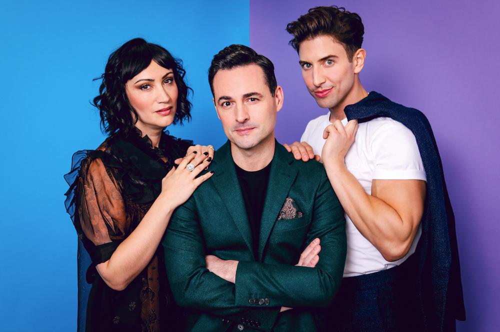 "The Tony Award-winning musical ""Falsettos"" kicks off a national tour Friday and Saturday at Fayetteville's Walton Arts Center. It stars (from left) Eden Espinosa, Max von Essen and Nick Adams."