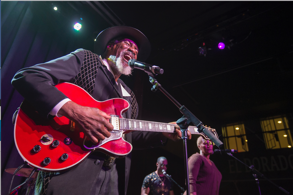 Bluesman Robert Finley performs Wednesday at Griffin Restaurant in El Dorado's Murphy Arts District.