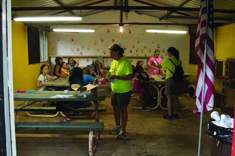 Patti Simpson in the craft barn at Camp Wotapi day camp, where Simpson leads the class in activities like making slime. Contributed photo