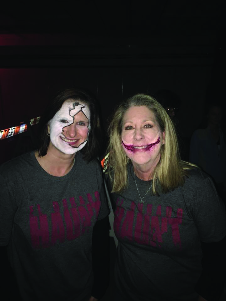 Camp Fire Executive Director Leanne Harrell and Patti Simpson at the El Dorado Haunt, a Camp Fire fundraiser organized by the pair. Contributed photo