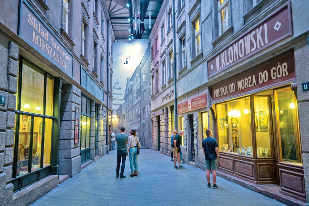 At Gdansk's new Museum of the Second World War, visitors walk through reconstructions of the Polish streets where the war took its toll.