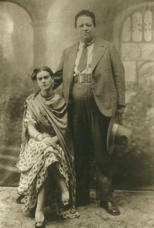 "Victor Reyes' ""Diego and His Bride Frida"" was taken in 1929. It is a vintage gelatin silver print. (Courtesy Throckmorton Fine Art, New York)"