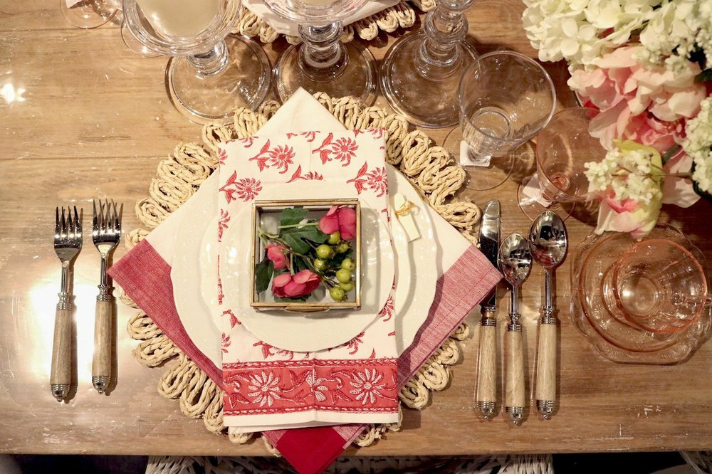 TNS  Adding color using napkins is an inexpensive way to refresh your table for the season.