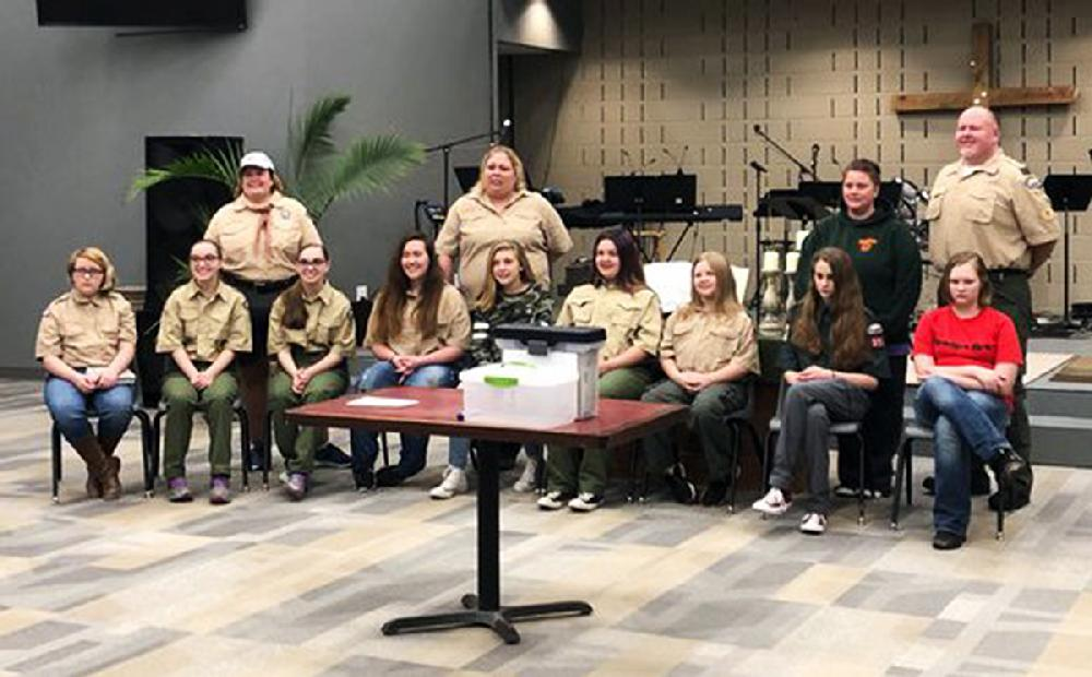 All-female Boy Scouts take oath in central Arkansas