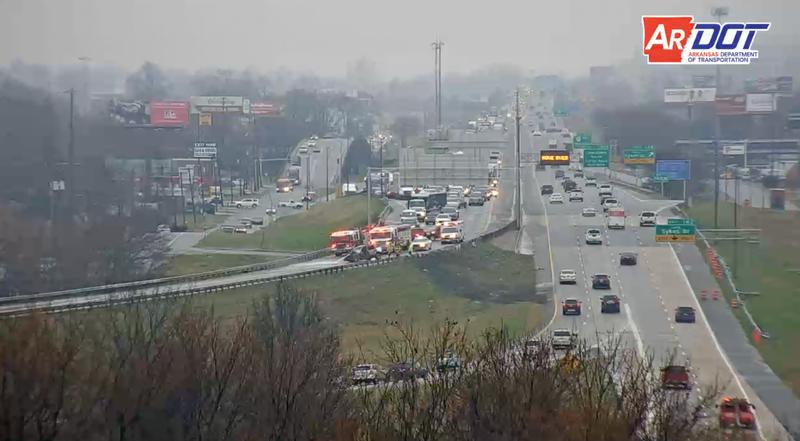 North Little Rock crash that halted I-30 bridge traffic cleared
