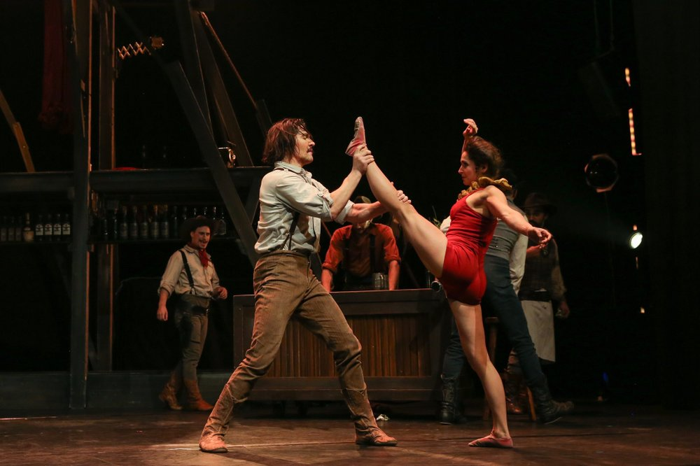 Cirque Eloize performs Saloon Tuesday at Fayetteville's Walton Arts Center. Photo by Bernd Wackerbauer