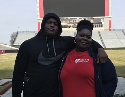 2020 OL Javion Cohen and his mother Philecia Fuller.