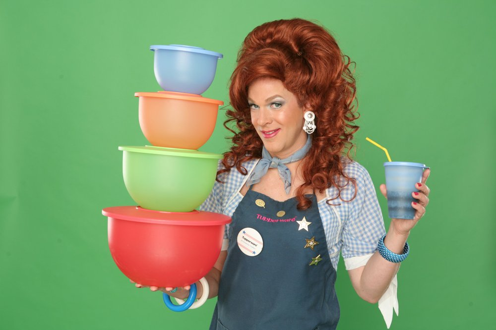 Tupperware salesman Dixie Longate covers Tupperware, female empowerment and life in her one-woman show, Dixies Tupperware Party, Tuesday-Saturday Feb. 19-23, 2 p.m. Feb. 24 at Fayetteville's Walton Arts Center.