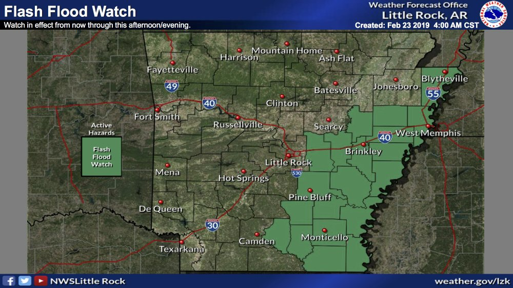 Forecasters: Chance for heavy winds, tornadoes, flooding today in