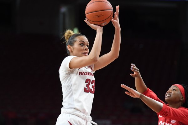 Image from Arkansas' 73-61 win over Ole Miss Sunday Feb. 24, 2019 at Bud Walton Arena in Fayetteville.