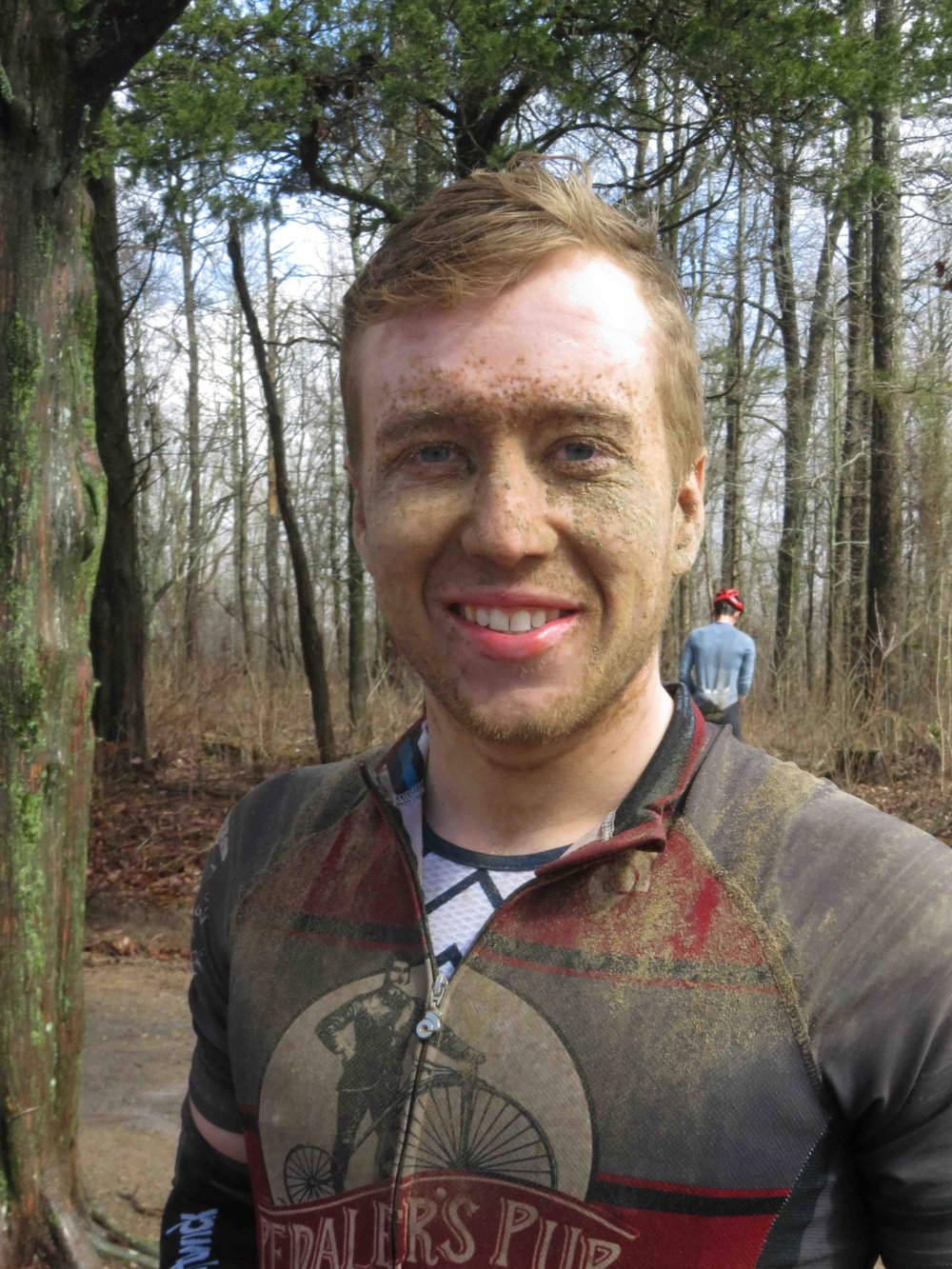 August Bailey of Bentonville took a little mud in the face Feb. 23. (Special to the Democrat-Gazette/NANCY RANEY)