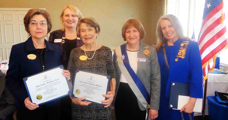 Submitted photo NEW MEMBERS: New Arkansas Society United States Daughters of 1812 members Rita Cash and Claire Holmes recently received their Arkansas Certificate, with State Registrar Arvetta Swift, President National Mary Raye Casper and State President Kay Tatum. Not pictured are new members Peggy Cara, Kim Bailey, Connie Crymes, Lucy Allen, Martha Adams, Nancy Spears and Junelle Mongno.